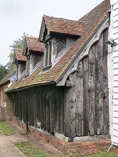 The Church of St Andrew in Greensted, Chipping Ongar, Essex, is the oldest wooden church in the world dating from the 9th century