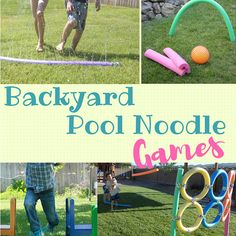 Grab some pool noodles for these summer fun backyard game ideas!