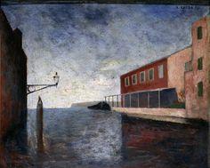 '<3'   Carlo Carrŕ - Canale a Venezia, 1926 - Olio su tavola, 42,5x51,5 cm - Museo Cantonale d'Arte, Lugano