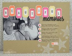Beautiful Memories Layout by Nichole Heady for Papertrey Ink (June 2013)