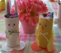 Toilet Paper Roll Craft that would be a really cute Easter craft for kids.