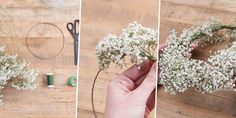 Make a child's gypsophila wreath - Wedding Wedding With Kids, Wedding Day, Marie Claire, Deco Floral, Gypsophila, 1st Birthday Parties, Flower Crown, Communion, Diy For Kids