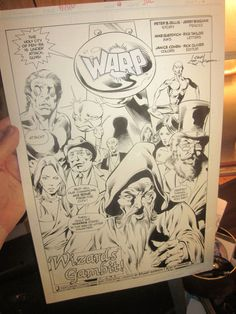 Original Comic Art SPLASH: WARP #14 Page #1 Mike Gustovich JERRY BINGHAM Gillis