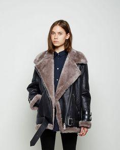 Acne Studios | Velocite Oversized Shearling Jacket | La Garçonne