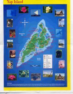 Yap Island Map      www.ElderMeyer.blogspot.com