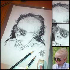 friend's son pencil drawing by Blaze