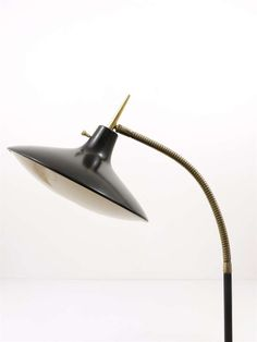 Black Gio Ponti Modernist Floor Lamp by Laurel from the 1950s | From a unique collection of antique and modern floor lamps at http://www.1stdibs.com/furniture/lighting/floor-lamps/