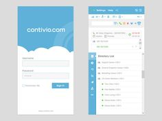 We recently finished up some design work and front-end development on a desktop call centre app client for contivio.com.