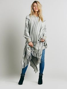 Free People Lurex Striped Pullover