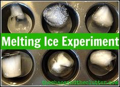 Melting Ice Experiment - easy hands-on science introduction!