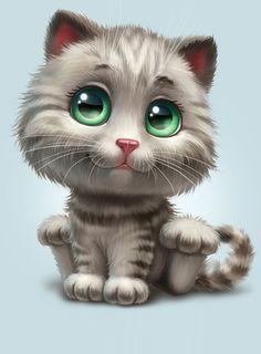 Cute Cat illustration by Anna Antracit on Behance ♥