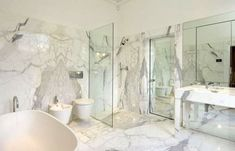 Master of Marble Bathroom - George Clooney and Amal Alamuddin's English Country House (Photos) Grey Marble Bathroom, Glass Bathroom, Glass Shower, Master Bathroom, Bathroom Ideas, Bathroom Photos, Bathroom Inspo, Bath Ideas, George Clooney