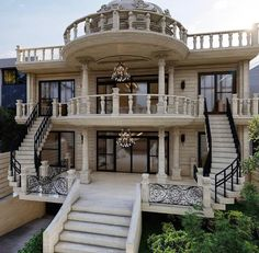 Dream House Interior, Luxury Homes Dream Houses, Dream Homes, Classic House Design, Dream Home Design, Loft Floor Plans, House Design Pictures, Mediterranean Homes, New House Plans