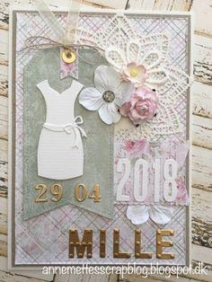 Anne-Mette´s scrapblog: Personlige konfirmationskort 2018 Baby Mini Album, Dress Card, Mini Albums, Diy And Crafts, Paper, Ali, Cards, Inspiration, Design