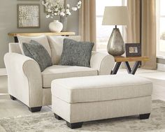 Silsbee Contemporary Sepia Fabric Solid Wood Chair & Ottomans Set