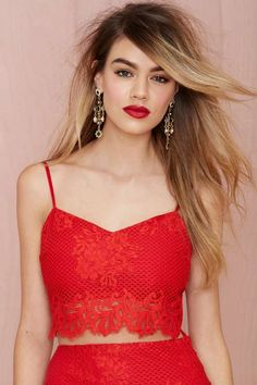 For Love & Lemons Tiki Bar Lace Crop Top | Shop Clothes at Nasty Gal!