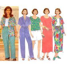 Butterick Sewing Pattern 4950 Women's / Women's Petite Shirt, Top, Skirt, Shorts, Pants Size: 16W-18W-20W Uncut