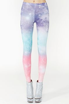 Pastel Galaxy Leggings #NastyGal