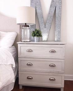 IKEA dressers turned nightstands. Such an easy DIY project! #IKEA #ikeahack…