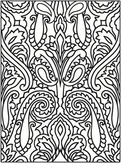 Welcome to Dover Publications  Creative Haven Paisley Designs Stained Glass Coloring Book