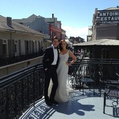 The wrap-around balcony off of the Orleans suite at the Royal Omni in New Orleans. French Quarter, New Orleans wedding
