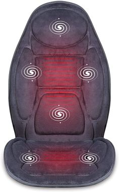 Snailax Massage Cushion with Vibration and Heating Therapy Enjoy the benefits of the massage seat cushion with heat in the comfort of your home office everyday. The vibration seat cushion with heat has 6 vibrating motors and 3 heat levels targets upper back, mid back, lower back, and thighs to help relieve muscle pain, tension, stress. 4 Optional Massage Area 5 programme vibration modes 4 variable massge intensities Auto Shut-off for Safety Use Heating on Seat & Back Back Massager, Good Massage, Muscle Pain, Chair Pads, Massage Chair, Gifts For Mum, Seat Cushions, Thighs