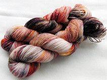 Sockenwolle handgefärbt 100 g  *471*