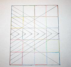 FITF: big diamond, little diamond – a straight line quilting pattern | Film in the Fridge