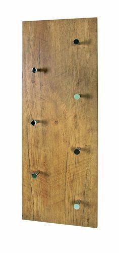 Perchero de pared en madera dm abla proyecto recibidor - Colgadores de pared de madera ...