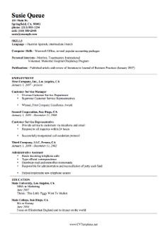 this free printable resume template is a basic curriculum vitae it outlines skills first