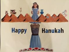 Happy Hanukah! Using photos from other students I made a holiday card. It is a menorah inspired by the spoiled little girls who get a new present every night.