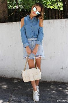 Forever 21 Open-Shoulder Chambray Shirt#petitewomensclothing#trendypetiteclothing#inexpensivepetiteclothes#designerpetiteclothing#fashionablepetiteclothing#petitedresses#outfitideasforwomen#outfits#trendy#trendyoutfitsforwomen#springoutfits#denim#denimondenim#denimoutfit#denimoutfitideas#denimoutfitideasforwomen#denimfemale#denimshirt#denimshirtdress#denimshirtoutfit#denimshirtoutfitspring#denimshirtoutfitwinter#ad