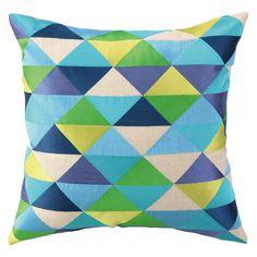 Trina Turk Holister Blue/Green Embroidered Pillow @Zinc_Door