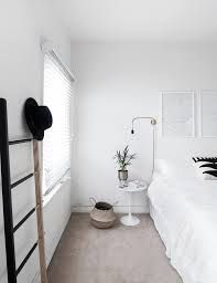 How to Achieve a Minimal Scandinavian Bedroom Tips for styling a modern and Scandinavian interior. Light and neutral monochrome bedroom. Monochrome Bedroom, Minimal Bedroom, Trendy Bedroom, Cozy Bedroom, Bedroom Decor, Bedroom Ideas, Bedroom Apartment, Apartment Inspiration, Minimal Apartment
