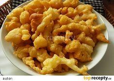 Domácí smažené křupky recept - TopRecepty.cz Kfc, Cauliflower, Macaroni And Cheese, Good Food, Fun Food, Food And Drink, Cooking Recipes, Bread, Snacks