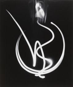 Cadenza by Barbara Morgan, 1940 Light Painting Photography, Abstract Photography, Outline Photography, History Of Photography, Photography Gallery, Barbara Morgan, Michael Craig, Straight Photography, Outline Drawings