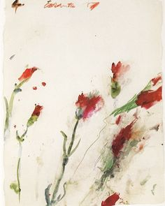 "#CyTwombly was born today 1928 in Lexington Virginia. ""Each line is now the actual experience with its own innate history. It does not illustrate  it is the sensation of its own realization."" This is his work 'Untitled no. 4' from his 'Cremation Series' (1989). by artobserved"