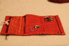 The Fold Twice Jewelry Pouch by HandmadeBySheetaluk on Etsy