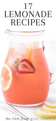 Drink Recipes Nonalcoholic, Non Alcoholic Drinks, Yummy Drinks, Beverages, Diet Drinks, Vodka Lemonade, Peach Lemonade, Healthy Lemonade, Lemonade Cocktail
