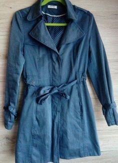 Kup mój przedmiot na #vintedpl http://www.vinted.pl/damska-odziez/plaszcze/16194662-gtanatowy-taliowany-plaszcz-orsay-r-38-wiazany-w-pasie