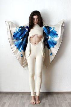 Avant Garde Playsuit, Sexy Jumpsuit, Champagne White Minimalist Jumpsuit, Short Sleeve Jersey Bodysuit, Womens Activewear, Yoga Clothes • XZOUIX • Tictail