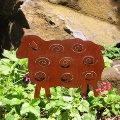 Rusty Finish Sheep Metal Silhouette Garden Art by MountainIron, $31.99