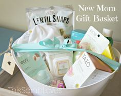 New Mom Gift Basket #thissarahloves