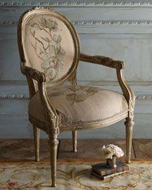 Printed Burlap Chair