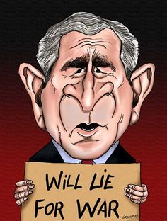 Image result for George Bush CARTOON