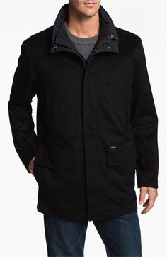 A down filled parka from Facconable in nautical blue. $1495.
