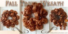 Party Ideas by Mardi Gras Outlet: Fall Wreath Tutorial with New Tinsel Work Wreath Form