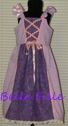 Custom listing for a Rapunzel inspired sundress with by adriatate, $40.00