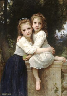 Two Sisters 1901 - William Adolphe Bouguereau. Love the the tones, lighting, positioning.... Just love it all!!