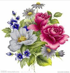 手绘 玫瑰 花 - Google'da Ara